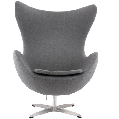 Kinzel Wingback Chair Upholstery: Gray