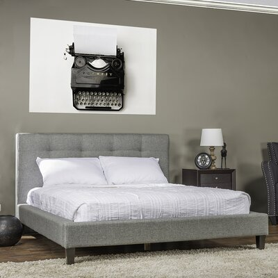 Frisina Upholstered Platform Bed Size: King, Color: Grey