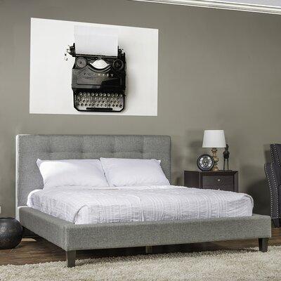 Frisina Upholstered Platform Bed Size: King, Color: Grey