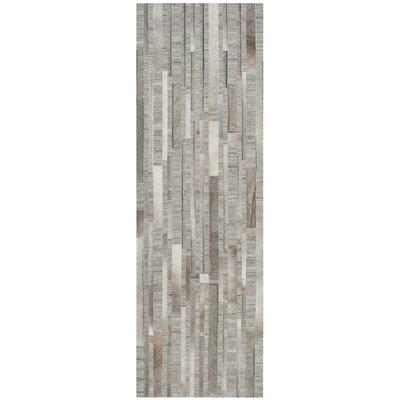 Sevastopol Hand-Woven Ivory/Gray Area Rug Rug Size: Runner 23 x 7
