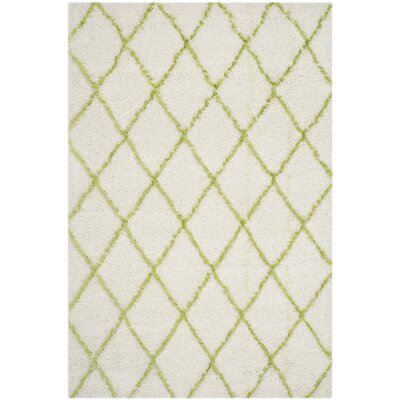 Armstead Ivory/Green Area Rug Rug Size: Rectangle 6 x 9