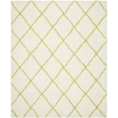 Armstead Ivory/Green Area Rug Rug Size: Rectangle 8 x 10