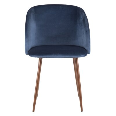 Chu Upholstered Dining Chair Color: Blue