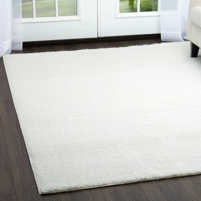 Glenpool Shimmery Shag White Area Rug Rug Size: Rectangle 79 x 102