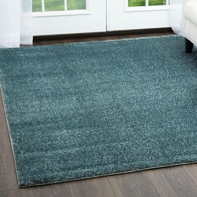 Glenpool Shimmery Shag Blue Area Rug Rug Size: Rectangle 53 x 72
