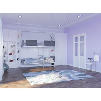 Butcombe Twin Murphy Bed Color: Gloss White
