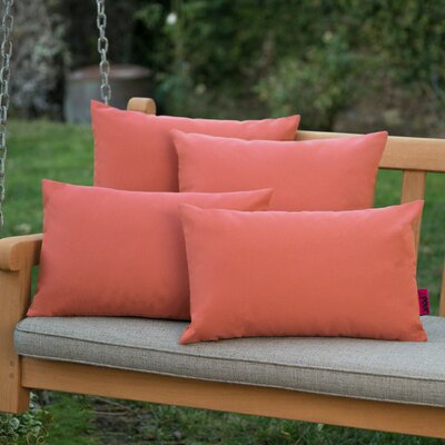 Dunecrest Outdoor Pillow Color: Coral