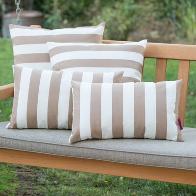 Dunecrest Outdoor Pillow Color: Brown/White