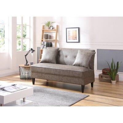 Dontae Settee Upholstery: Gray
