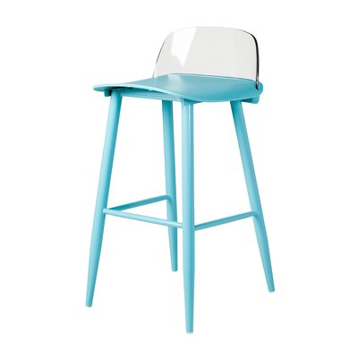 Coolidge 30 Bar Stool Color: Blue