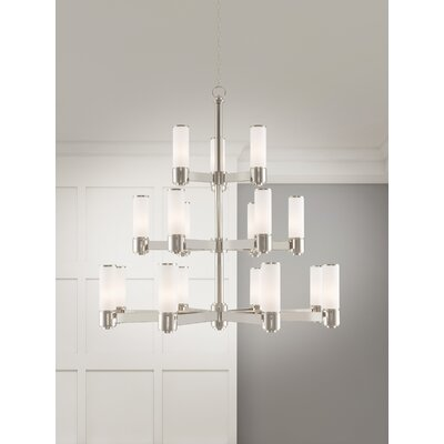 Kramer 17-Light Shaded Chandelier Finish: Polished Nickel