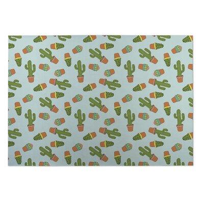 Rylie Cactus Doormat Color: Green/Blue