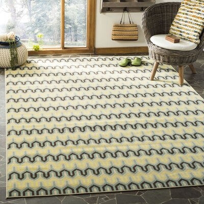 Kelston Light Ivory Outdoor Area Rug Rug Size: Rectangle 67 x 96