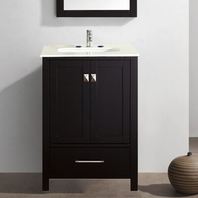 Pichardo Contemporary 24 Single Bathroom Vanity Set Base Finish: Espresso