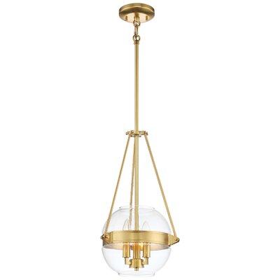Karle 3-Light Globe Pendant Finish: Liberty Gold