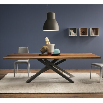 Hotaling Dining Table Finish: Glossy Sand/Sand