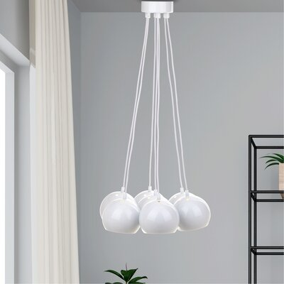 Otero 7-Light Cluster Pendant Finish: White