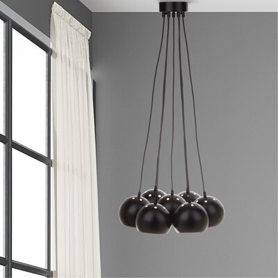 Otero 7-Light Cluster Pendant Finish: Black