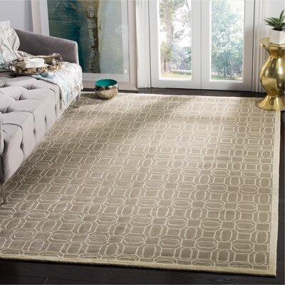 Hudnall Hand-Knotted Mint Area Rug Rug Size: Rectangle 6 x 9