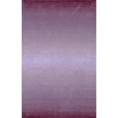 Belding Hand-Tufted Wool Purple Area Rug Rug Size: Rectangle 76 x 96