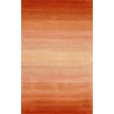 Belding Orange Horizon Area Rug Rug Size: Rectangle 76 x 96