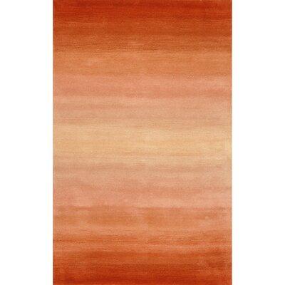 Belding Orange Horizon Area Rug Rug Size: Rectangle 83 x 116