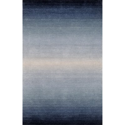 Belding Hand-Tufted Wool Blue Area Rug Rug Size: Rectangle 5x 76