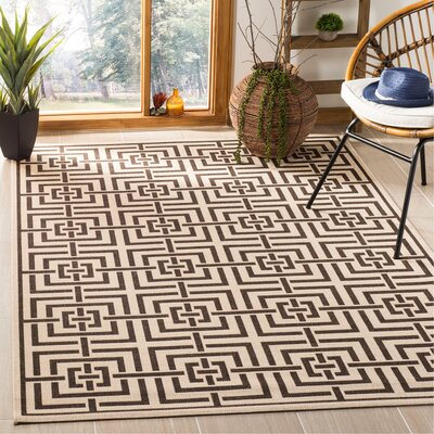 Kallias Natural Gray/Beige Area Rug Rug Size: Rectangle 4' x 6'