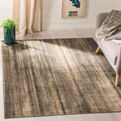 Coppage Soft Anthracite Brown Area Rug Rug Size: Rectangle 53 x 76