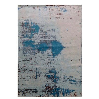 Pomona Gray/Blue Area Rug Rug Size: Rectangle 82 x 115