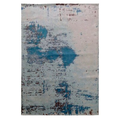 Pomona Gray/Blue Area Rug Rug Size: Rectangle 525 x 75