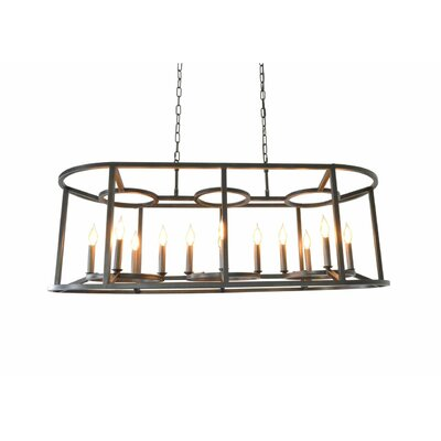 McGuinness 12-Light Candle-Style Chandelier Finish: Black