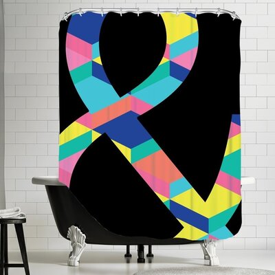 Ashlee Rae Amperstand on Black Shower Curtain Color: Black