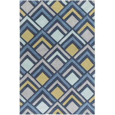 Mcgray Hand-Tufted Blue Area Rug Rug Size: Rectangle 5 x 8
