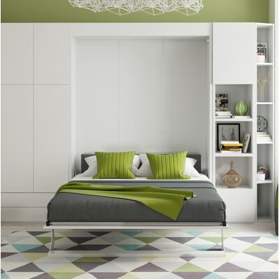 Gautreaux Queen Murphy Bed Color: Gloss White