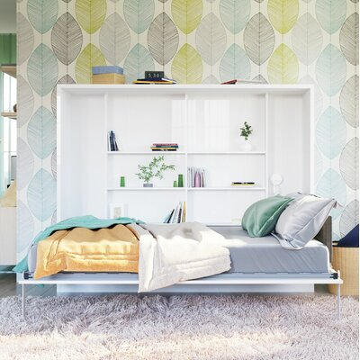 Georgina Full Wall Configuration Murphy Bed without Table Color: Semi-Gloss White