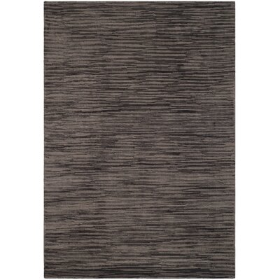 Maxim Charcoal Soild Rug Rug Size: Rectangle 4 x 6