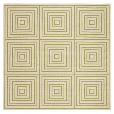 Horne Cream/Olive Area Rug Rug Size: Square 67