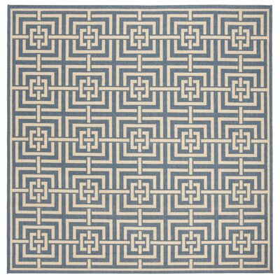 Horsholm Blue/Cream Area Rug Rug Size: Square 67