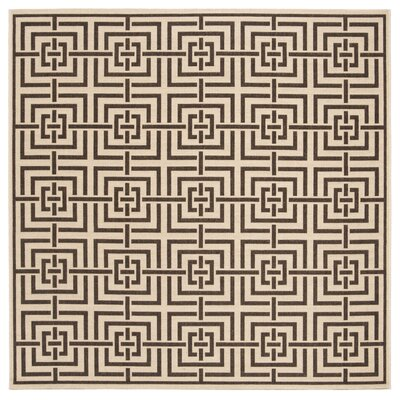Horne Cream/Brown Area Rug Rug Size: Square 67