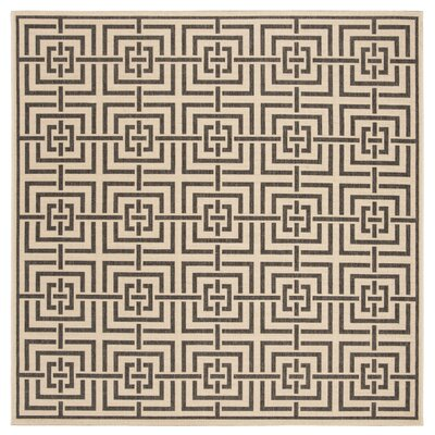 Horne Cream/Black Area Rug Rug Size: Square 67