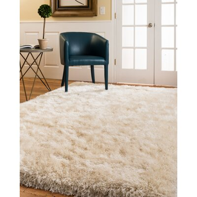 Lauryn Shag Hand-Woven Ivory Area Rug Rug Size: Rectangle 5 x 8