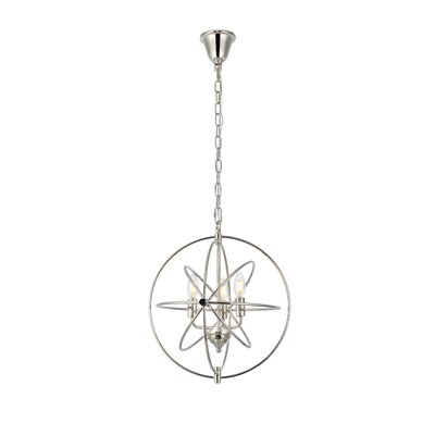 Hamby 3-Light Globe Pendant Finish: Polished Nickel