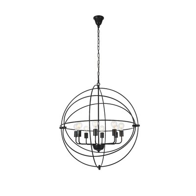 Hamby 8-Light Globe Pendant Finish: Dark Bronze