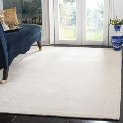 Maxim White Soild Rug Rug Size: Rectangle 5 x 8