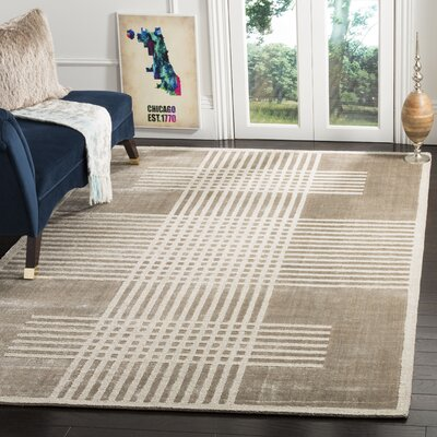 Maxim Hand-Woven Brown Area Rug Rug Size: Rectangle 6 x 9