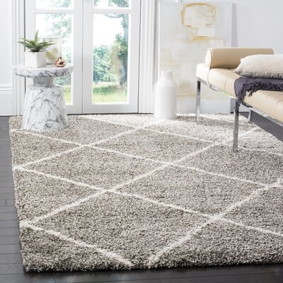 Duhon Gray Area Rug Rug Size: Rectangle 4 x 6
