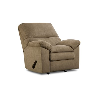 Sutton Manual Rocker Recliner by Simmons Upholstery Upholstery: Puff Musk