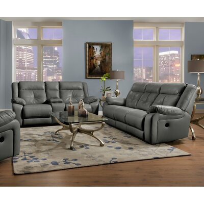 Simmons Upholstery Obryan Pearl Double Motion Reclining Sofa Recliner Mechanism: Manual, Upholstery: Charcoal