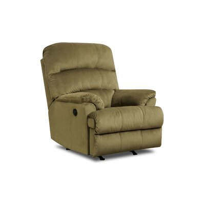 Camina Manual Rocker Recliner by Simmons Upholstery Upholstery: Army, Recliner Mechanism: Manual